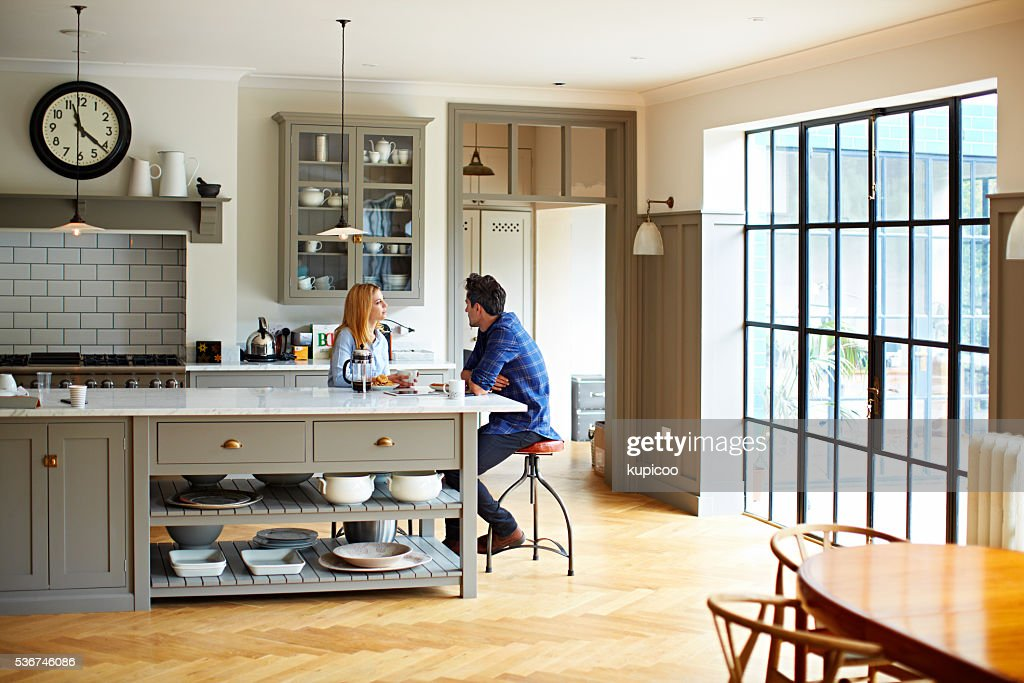 They love these mornings together : Stock Photo