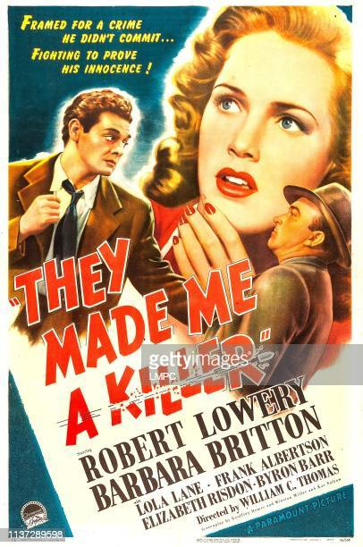 They Made Me A Killer poster US poster from left Robert Lowery Barbara Britton James Bush 1946