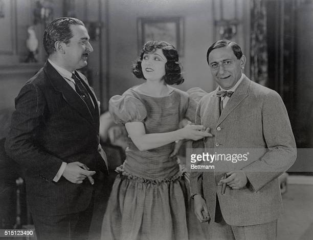 They might be called the two godfathers of the famous screen star Pola Negri At the left is George Fitzmaurice who directed her in the first American...