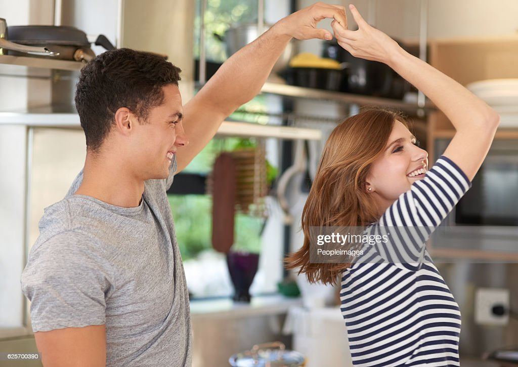 They never miss a chance to dance : Stock Photo