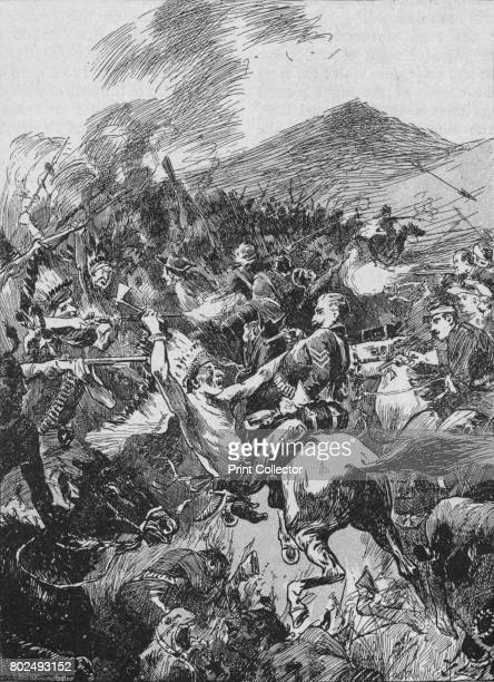 They Plunged into the Seething Mass of Painted and Befeathered Red Men' 1902 The Battle of the Little Bighorn known to the Lakota and other Plains...