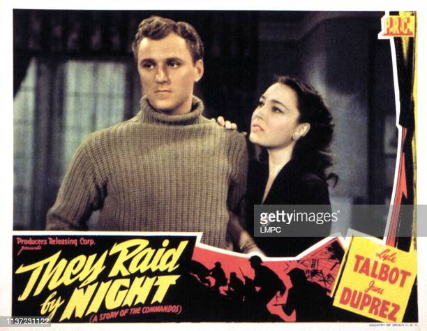 They Raid By Night lobbycard George N Neise June Duprez 1942