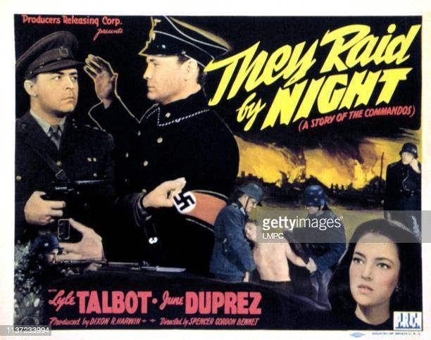 They Raid By Night lobbycard Lyle Talbot June Duprez 1942