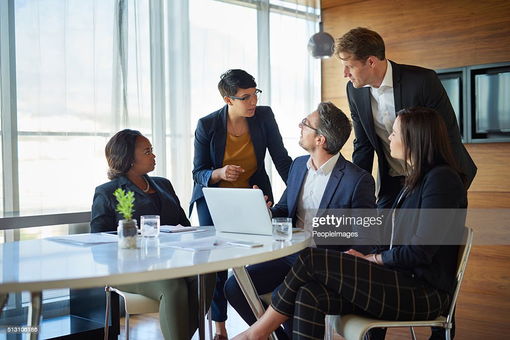 They rely on their ability to function as a team : Stock Photo