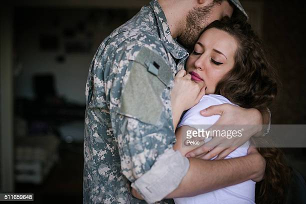 they said their good-byes - army stock pictures, royalty-free photos & images