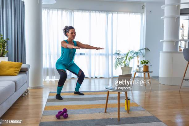 they say no pain, no gain - home workout stock pictures, royalty-free photos & images
