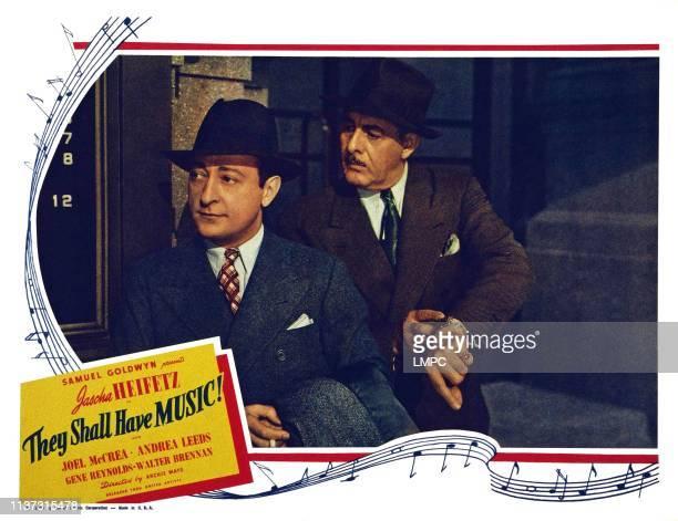 They Shall Have Music US lobbycard from left Jascha Heifetz Paul Harvey 1939