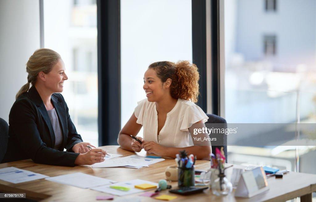 Sie haben eine große Büro-Beziehung : Stock-Foto