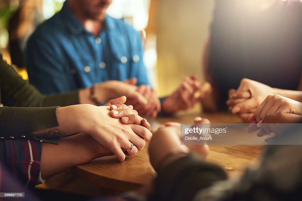 They share a strong faith : Stock Photo
