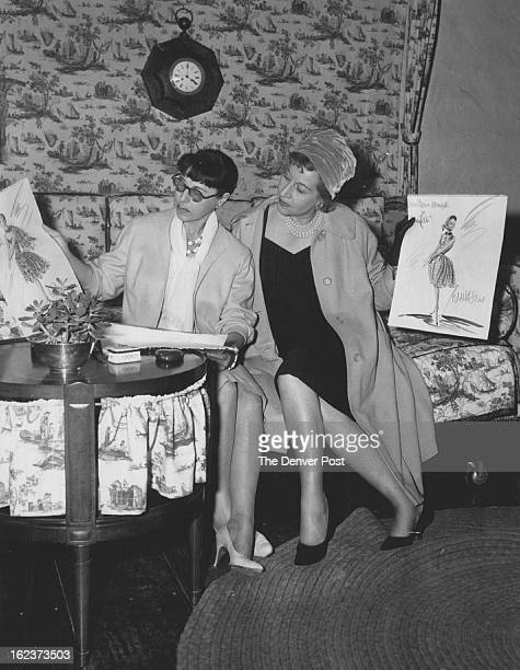 MAR 24 1967 They Share a Talent and Interest Edith Head left the noted Hollywood fashion authority shows one of her dress sketches to Gretchen Weber...