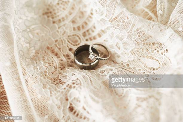 they symbolize our lifelong commitment to each other - wedding ring stock pictures, royalty-free photos & images