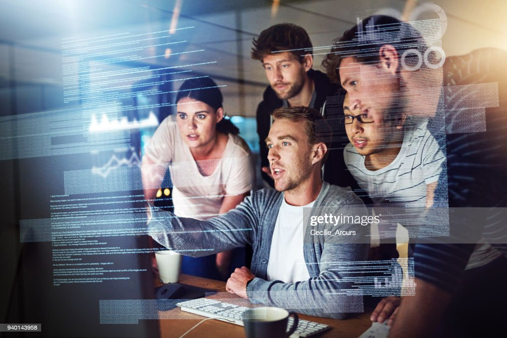 They talk the talk and code the code : Stock Photo