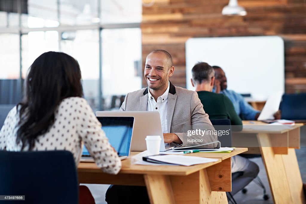 They'll get the job done with a smile : Stock Photo