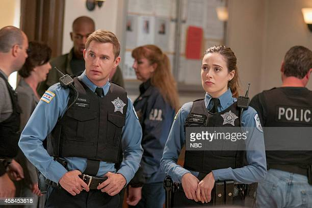 """They'll Have to Go Through Me"""" Episode 209 -- Pictured: Brian Geraghty as Sean Roman, Marina Squerciati as Kim Burgess --"""
