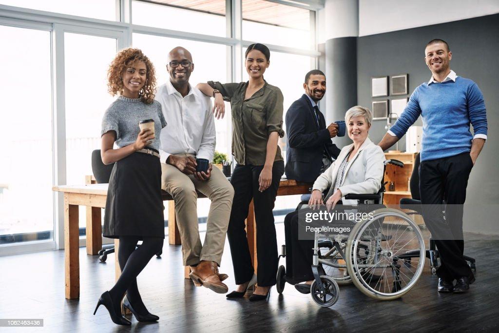 Ze zijn een divers en dynamisch team : Stockfoto