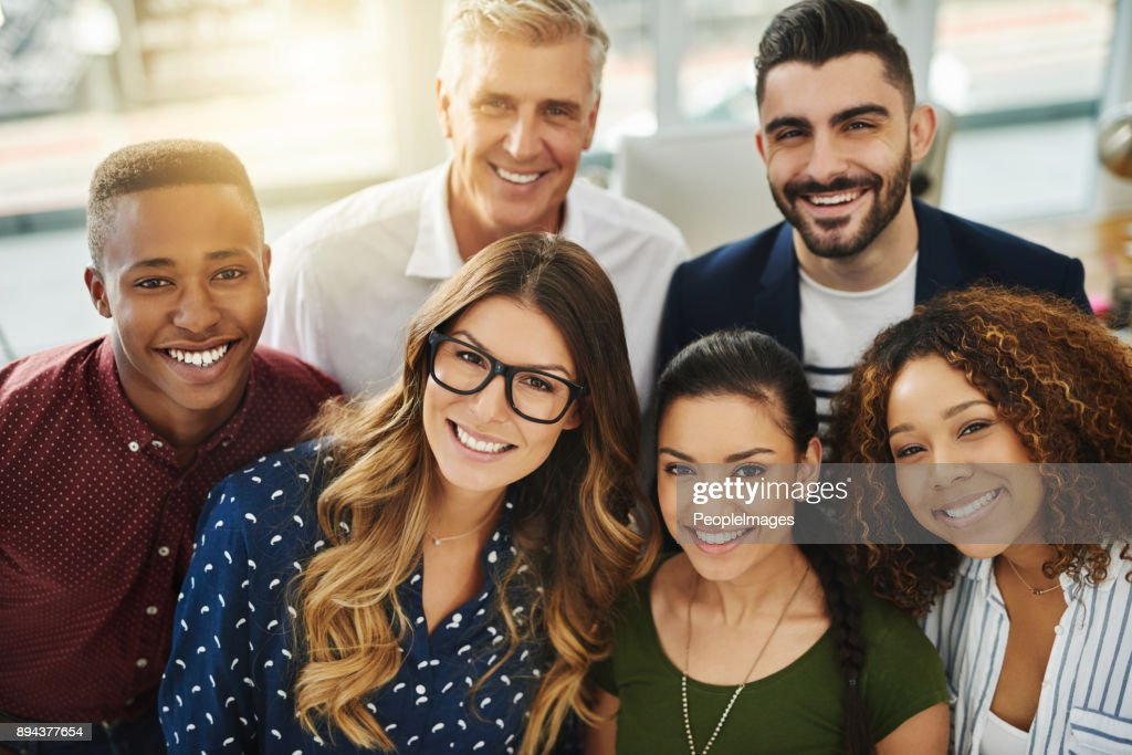 They're a team of go getters : Stock Photo