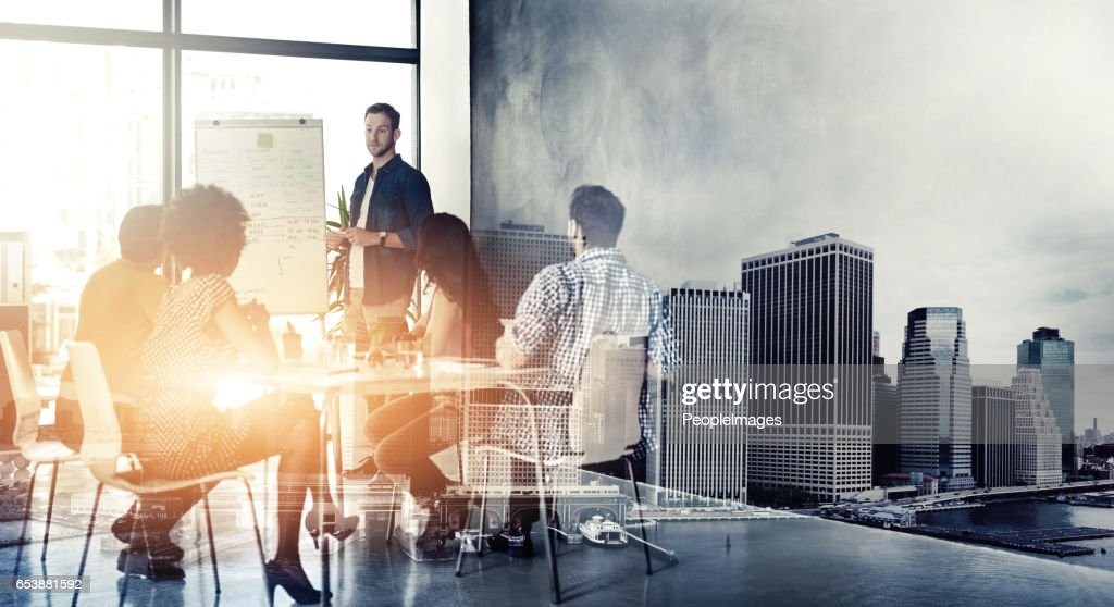 They're a team that knows only of succeeding : Stock Photo