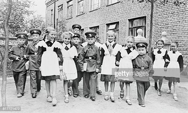 They're catching 'em young in Moscow these days and instilling the military spirit as the late unlamented Adolf Hitler used to do in Germany Here are...