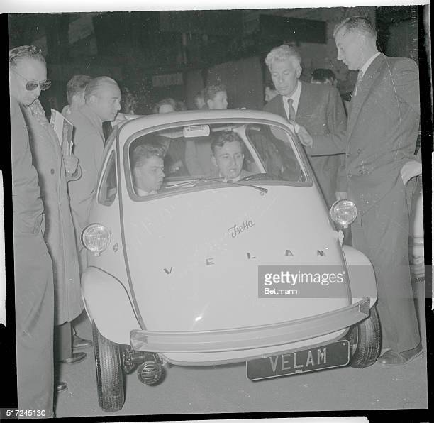 They're Getting Smaller and Smaller Paris France The bug like Isetta Velam might be the answer for traffic jams if all cars were Velams there'd be...