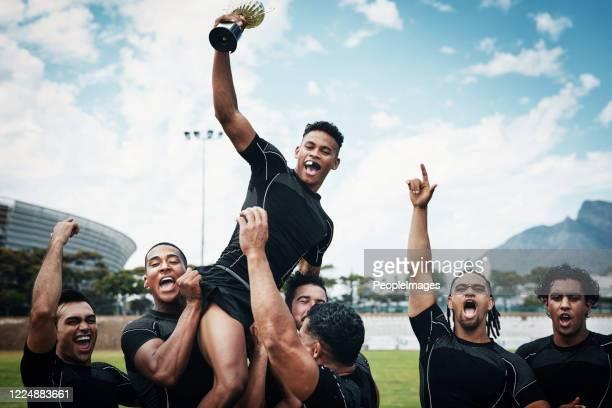 sie sind nicht irgendein team, das sie rugby-cup-sieger sind - sportchampion stock-fotos und bilder