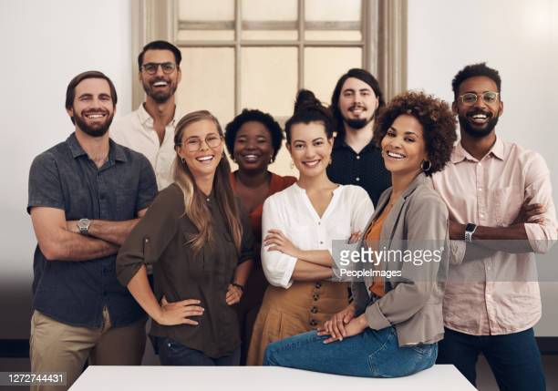they're ready to push towards success with tenacity and confidence - multi ethnic group stock pictures, royalty-free photos & images