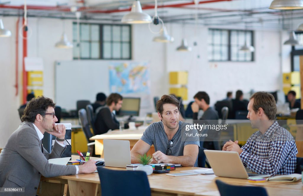 They're the office trifecta of success : Stock Photo