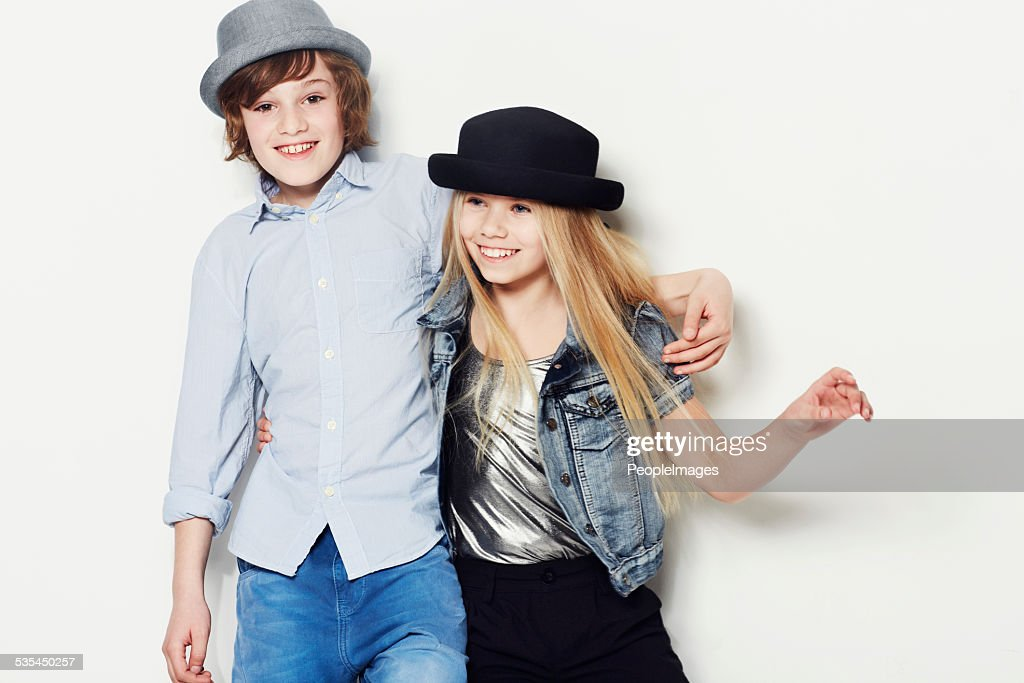 They're wearing their happy hats : Stock Photo