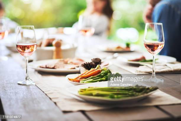 they've always been a family of vegetables - dining stock pictures, royalty-free photos & images