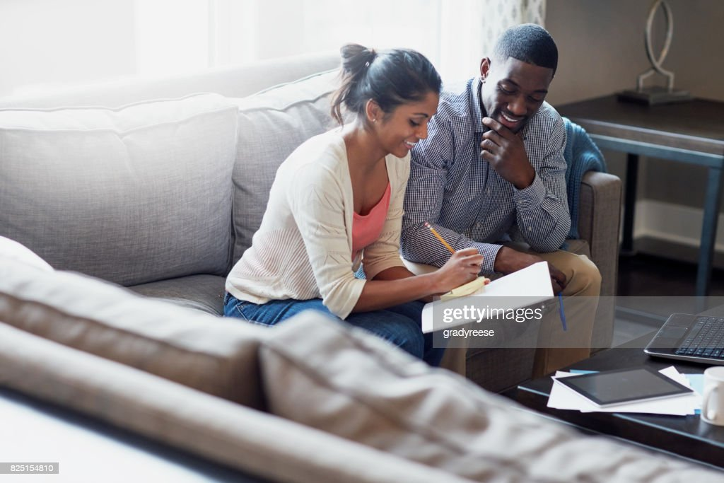 They've got big plans for their savings : Stock Photo