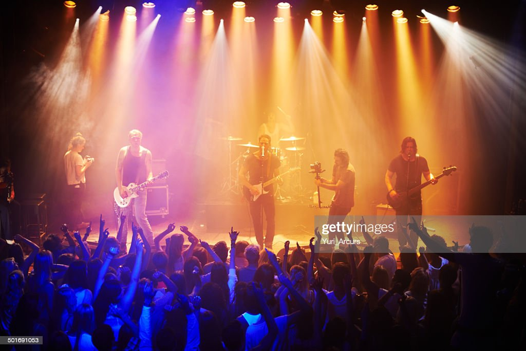 They've got the crowd in a musical trance : Stock Photo