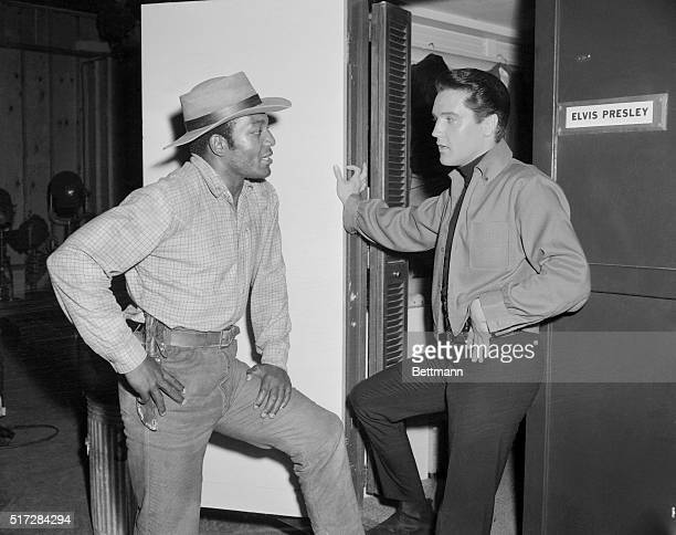 They've had great admiration for each other for years but recently Jim Brown the fabulous gridiron hero and currently western actor dropped in on...
