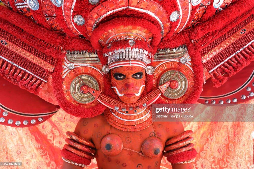 Theyyam dancer, India : Stock-Foto