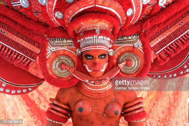theyyam dancer, india - dietmar temps stock photos and pictures