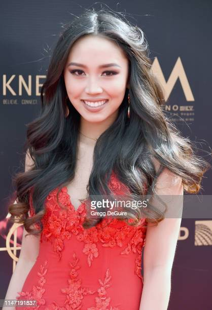 Thia Megia attends the 46th annual Daytime Emmy Awards at Pasadena Civic Center on May 05 2019 in Pasadena California