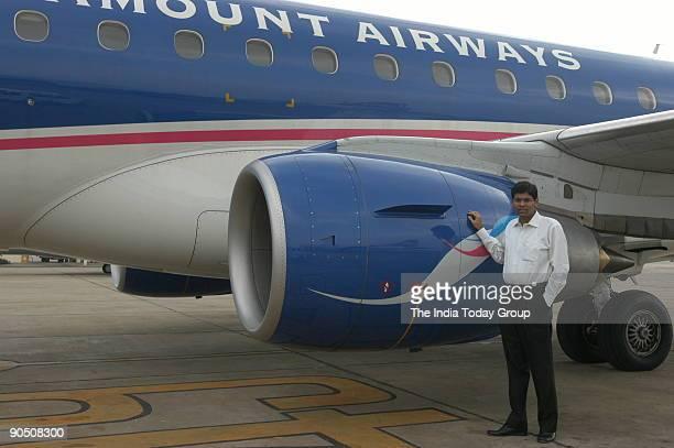 Thiagarajan Managing Director of Paramount Airways inside the cockpit in Chennai Tamil Nadu India