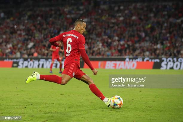 Thiago Alcanatara of Muenchen runs with the ball during the Audi Cup 2019 final match between Tottenham Hotspur and Bayern Muenchen at Allianz Arena...