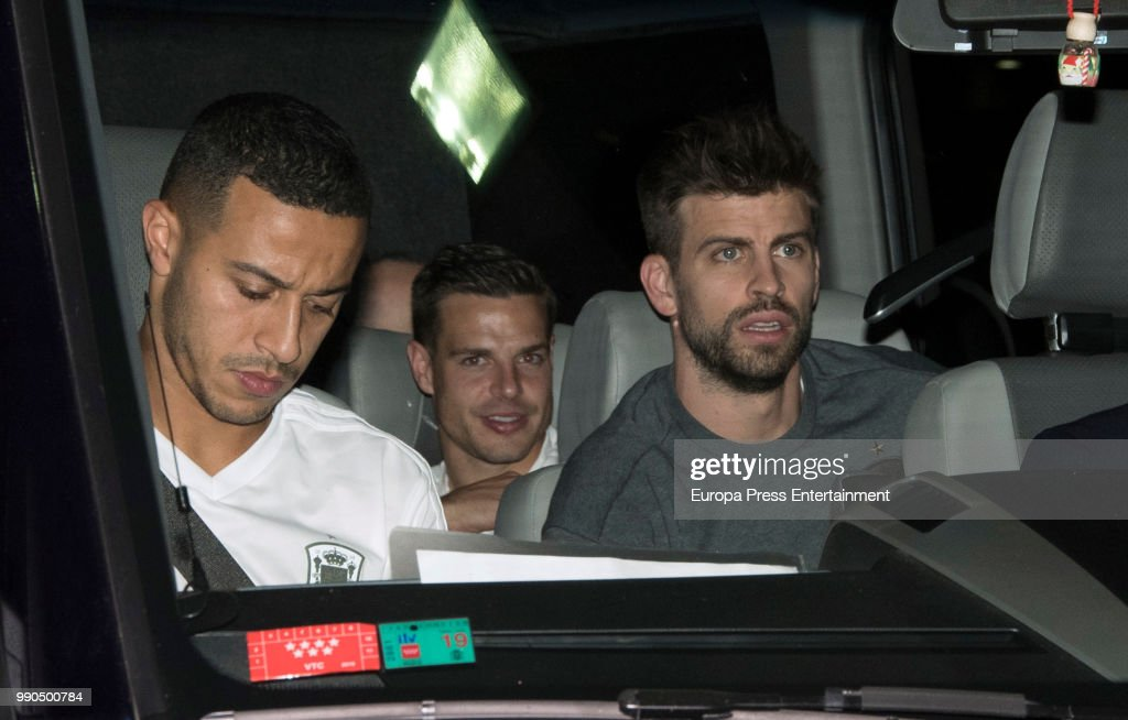 Spanish Football Team Arrives  From Russia 2018 World Cup : News Photo