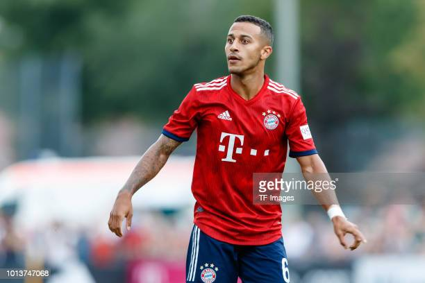 Thiago Alcantara of Bayern Muenchen looks on during the friendly match between SV RottachEgern and FC Bayern Muenchen on August 8 2018 in...