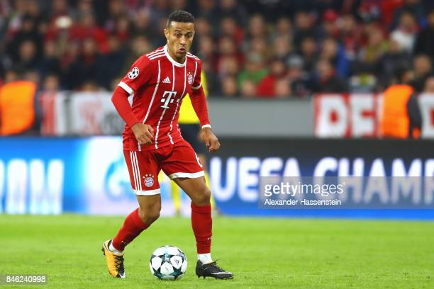 Thiago Alcantara of Bayern Muenchen runs with the ball during the UEFA Champions League group B match between FC Bayern Muenchen and RSC Anderlecht...
