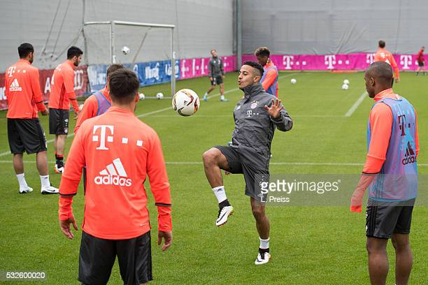 Thiago Alcantara of FC Bayern Muenchen in action during a training session on May 19 2016 in Munich Germany