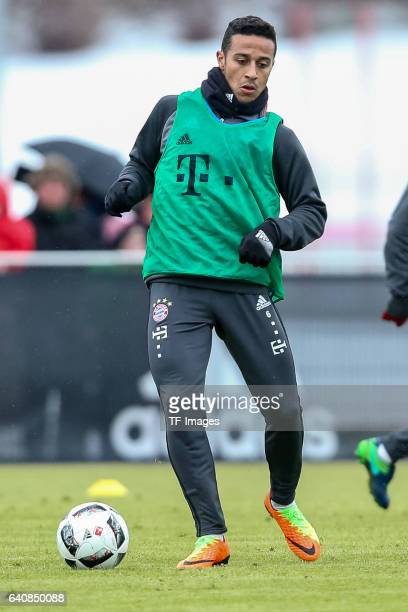Thiago Alcantara of FC Bayern Muenchen in action during a training session at the Saebener Strasse training ground on January 30 2017 in Munich...