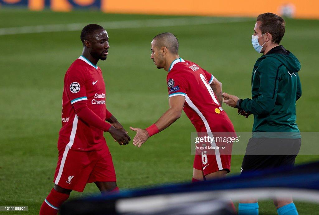 Real Madrid v Liverpool FC - UEFA Champions League Quarter Final: Leg One : News Photo