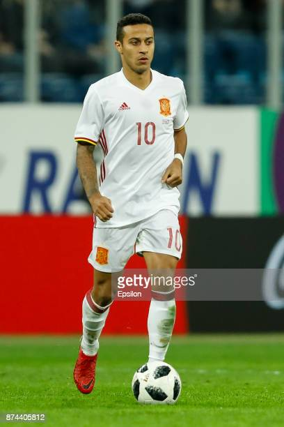 Thiago Alcantara of Spain during Russia and Spain International friendly match on November 14 2017 at Saint Petersburg Stadium in Saint Petersburg...
