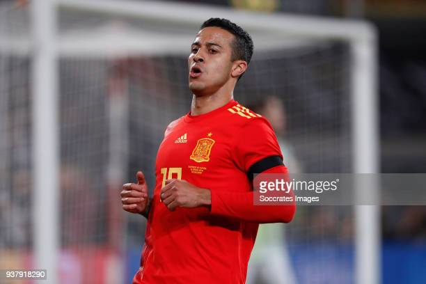 Thiago Alcantara of Spain during the International Friendly match between Germany v Spain at the Esprit Arena on March 23 2018 in Dusseldorf Germany