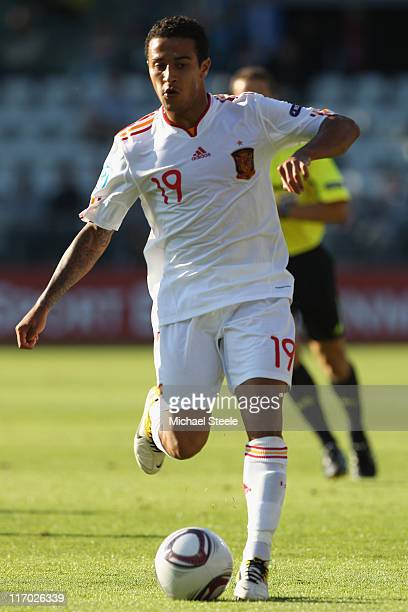 Thiago Alcantara of Spain during the UEFA European Under21 Championship Group B match between Czech Republic and Spain at the Viborg Stadium on June...