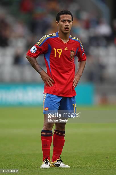 Thiago Alcantara of Spain during the UEFA European Under21 Championship semifinal match between Belarus and Spain at the Viborg Stadium on June 22...
