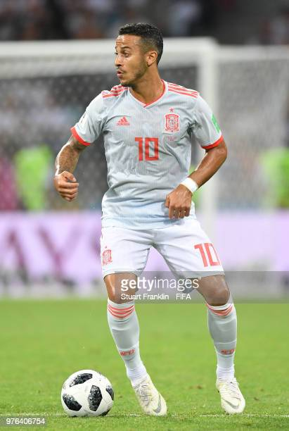 Thiago Alcantara of Spain in action during the 2018 FIFA World Cup Russia group B match between Portugal and Spain at Fisht Stadium on June 15 2018...
