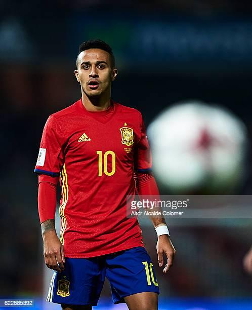 Thiago Alcantara of Spain looks on during the FIFA 2018 World Cup Qualifier between Spain and FYR Macedonia at Estadio Nuevos los Carmenes on...