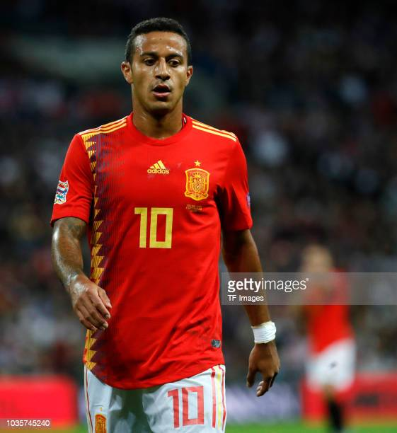 Thiago Alcantara of Spain looks on during the UEFA Nations League A group four match between England and Spain at Wembley Stadium on September 8 2018...