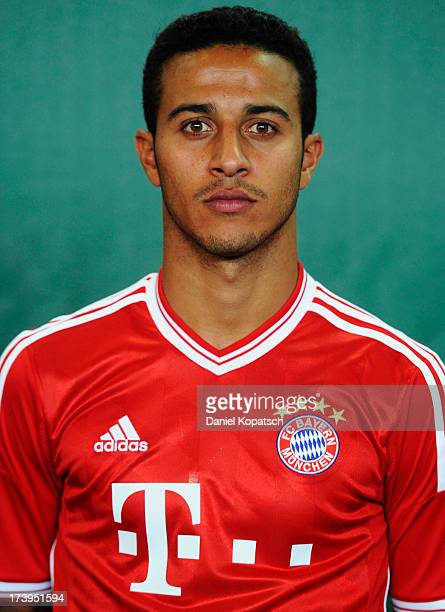 Thiago Alcantara poses during the Bayern Muenchen Team Presentation on July 18 2013 in Munich Germany